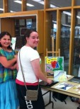 BCC Art Show: Students checking out the Art