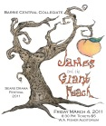 BCC Poster for James and the Giant Peach Drama
