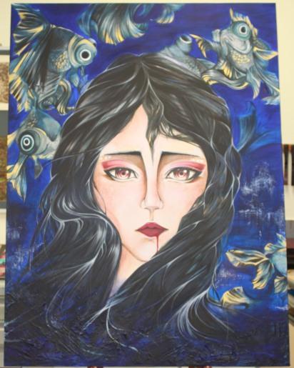 Asleep Final Work Painting