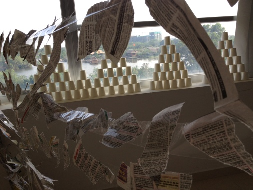 Room Installation - Recyclable materials