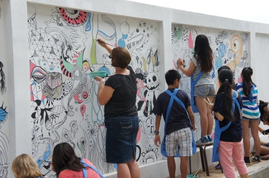 Microbo Mural - Man, its hot out here!