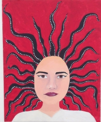 Medusa (or Me in the Morning) - Acrylic Paint