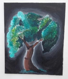 Tree Haze - Acrylic, Chalk
